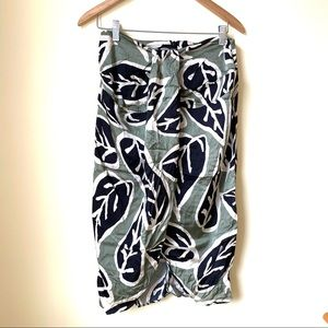 Zara Leafy Strapless Dress